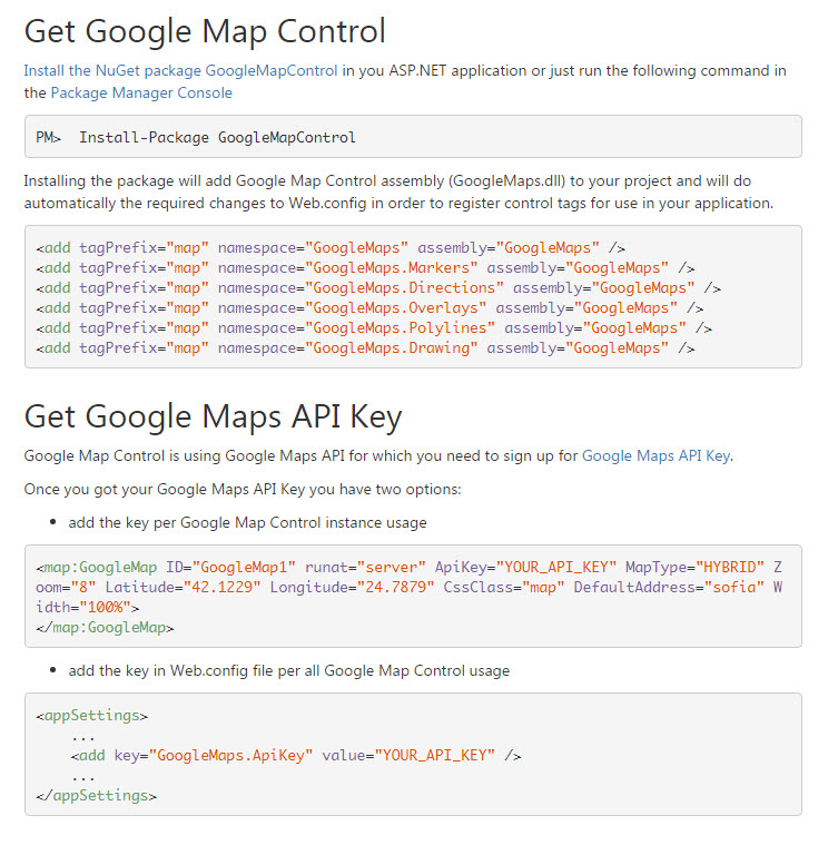 Add a polygon to your GoogleMap project from codebehind using C#