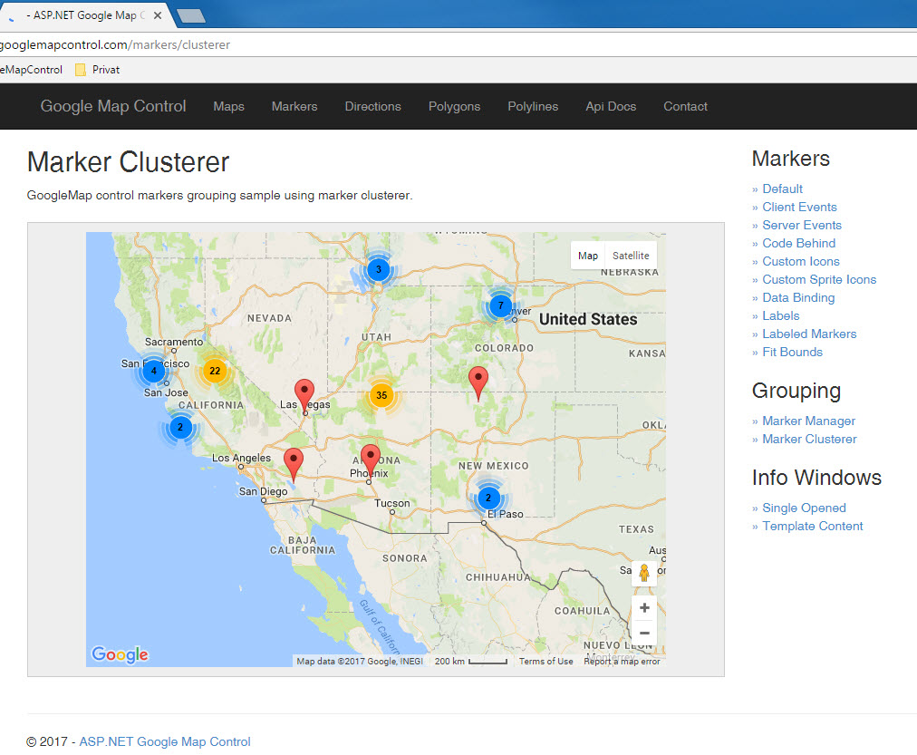 NET help and examplecode | Add Google Map to your C# or VB