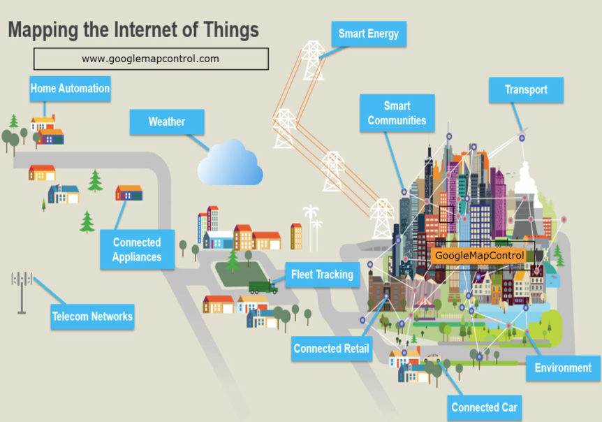 Real Time Map Support Makes The Internet Of Things Iot Come To